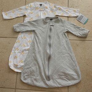 Hudson Baby 2pk long sleeve zip sleep bags 0-3M